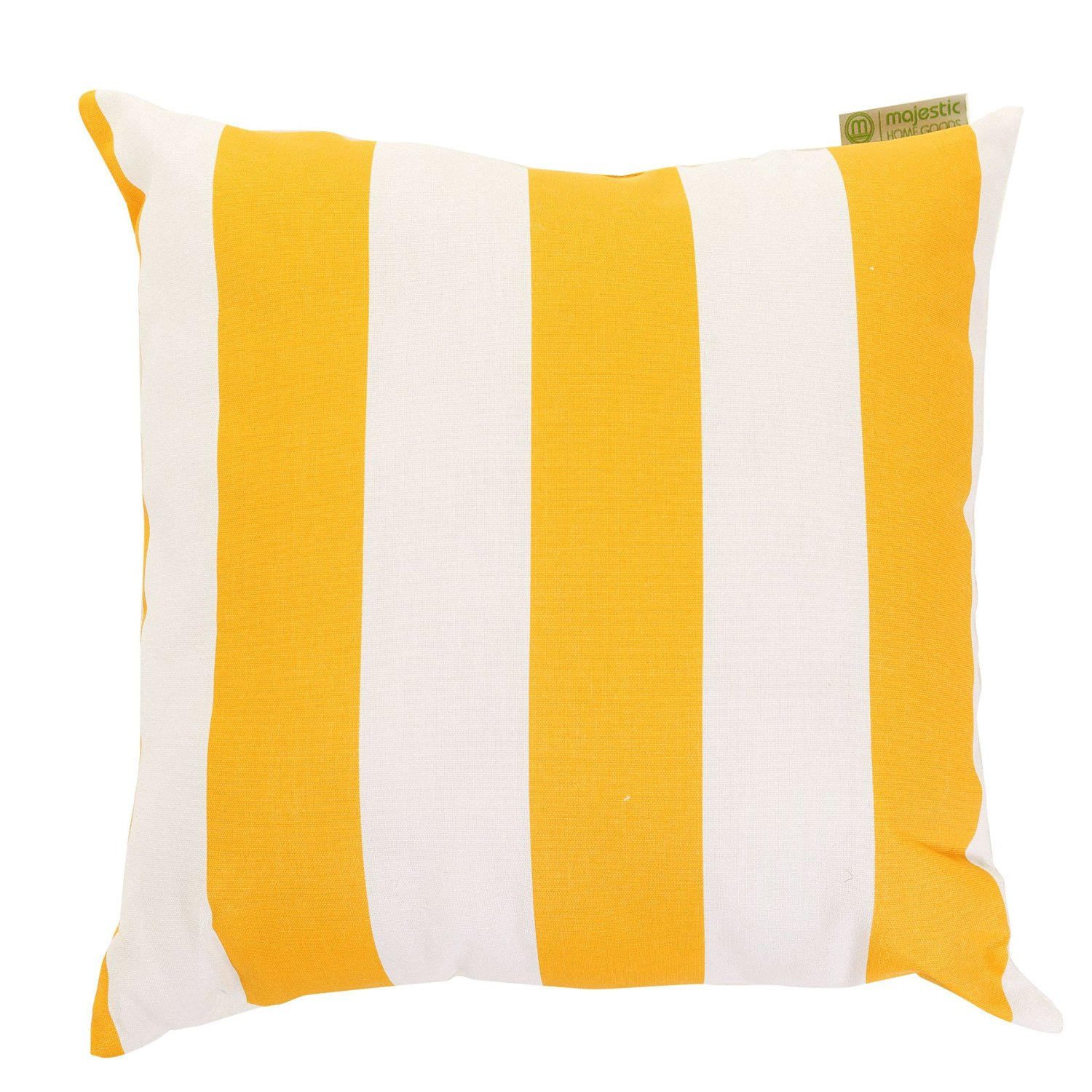 "Majestic Home Goods Yellow Vertical Stripe Indoor/Outdoor Large Pillow 20"" L x 8"" W x 20"" H"