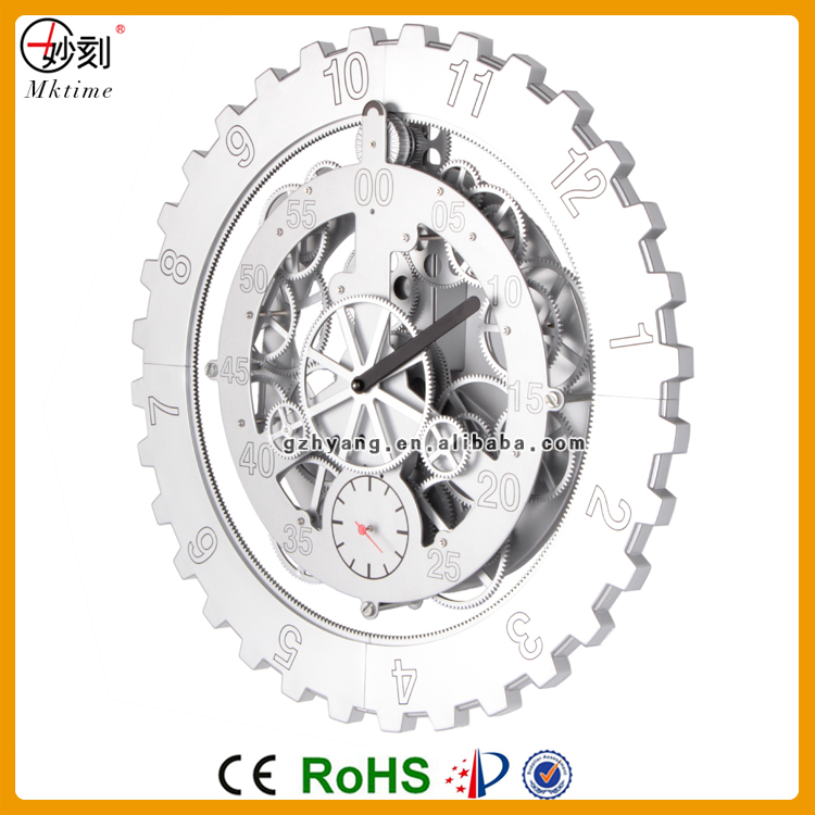 Ce Special Home Decor Moving Gear Mechanical Wall Clock