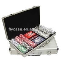 deluxe aluminum poker chip set/300 pcs poker chip set customized