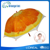 High quality straight children orange printing fruit umbrella