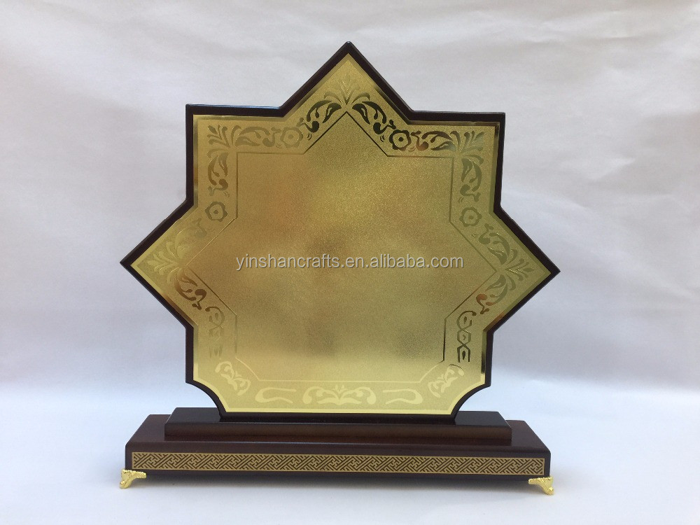 Wooden MDF Plaque Wooden Trophy And Awards Wooden Box