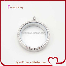 Large 30mm round magnetic glass floating charm locket pendants