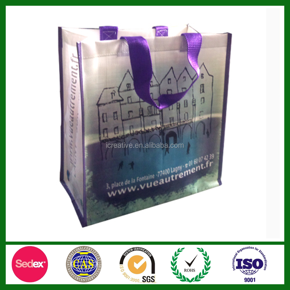 Grocery Use Wholesale Promotional PP Woven Shopping Bag at Low Price SP1655