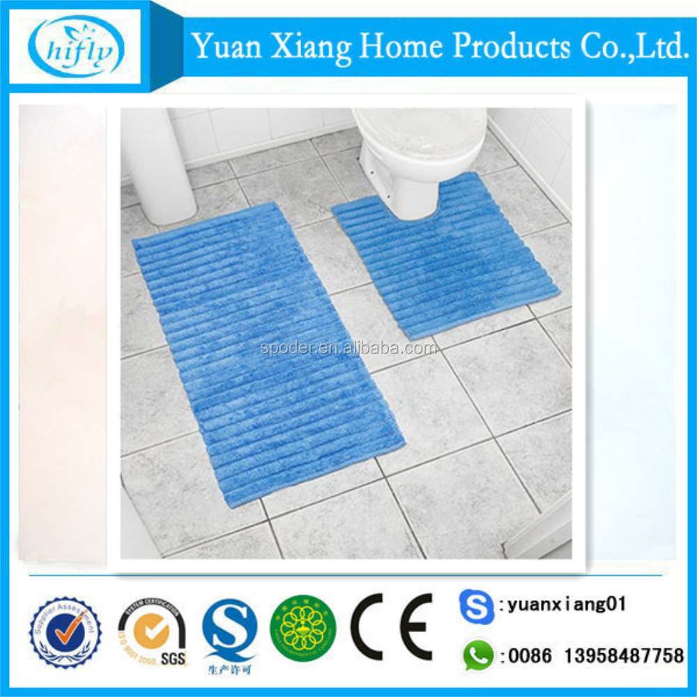 Plain color memory foam 2pcs anti slip bath rug set for discount