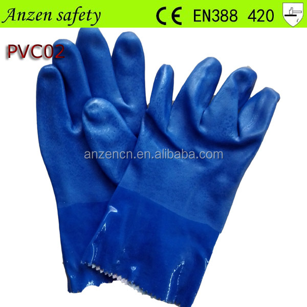 cut resistant long arm pvc coated work glove