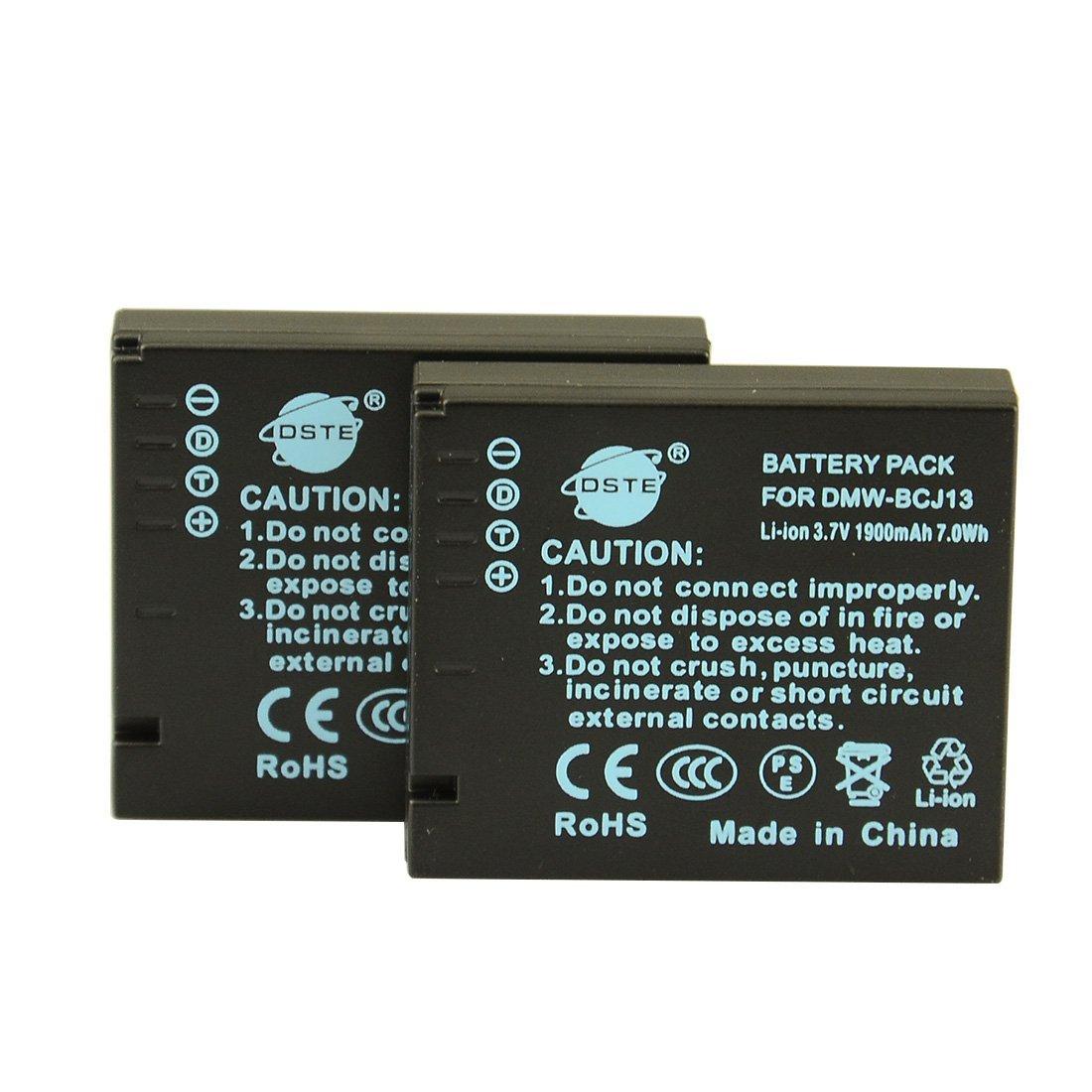 DSTE 2x DMW-BCJ13 Replacement Li-ion Battery for Panasonic Lumix DMC-LX5 LX5GK LX5K LX5W LX7 LX7GK LX7K LX7W Camera as DMW-BCJ13E