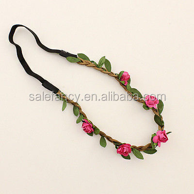 Peach Bride Decoration Flower Crown Headband Festival Weddingfloral foam for flower arrangement QFHD-1018