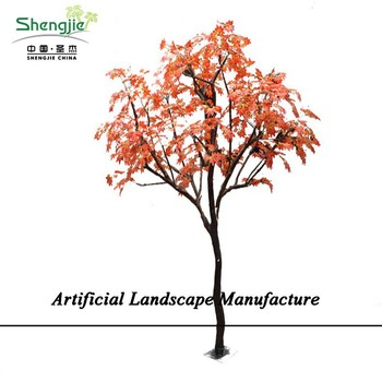 SJZJN 821Artificial Japanese Maple Tree Red Leaves for Landscaping