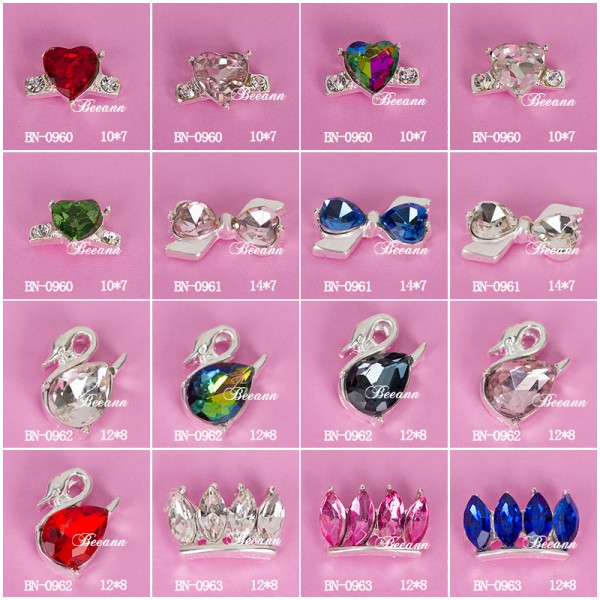 2015 new beautiful 3d DIY acrylic nail art mold decoration 3d nail art product