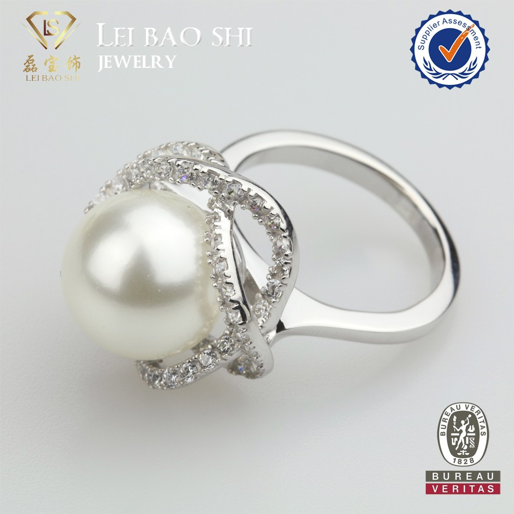 Aaaaa Quality Freshwater Pearl Ring Designs Silver Pearl Jewelry Rings