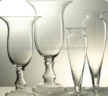 Clear Reversible Trumpet Glass Vase Flower Vase Wedding Centerpiece Buy Unique Trumpet Vases