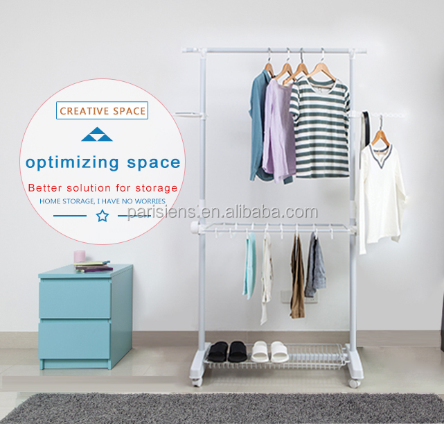 Multifunctional single pole 3 tiers clothing rack with pants hanger, garment rack, clothes rack for display
