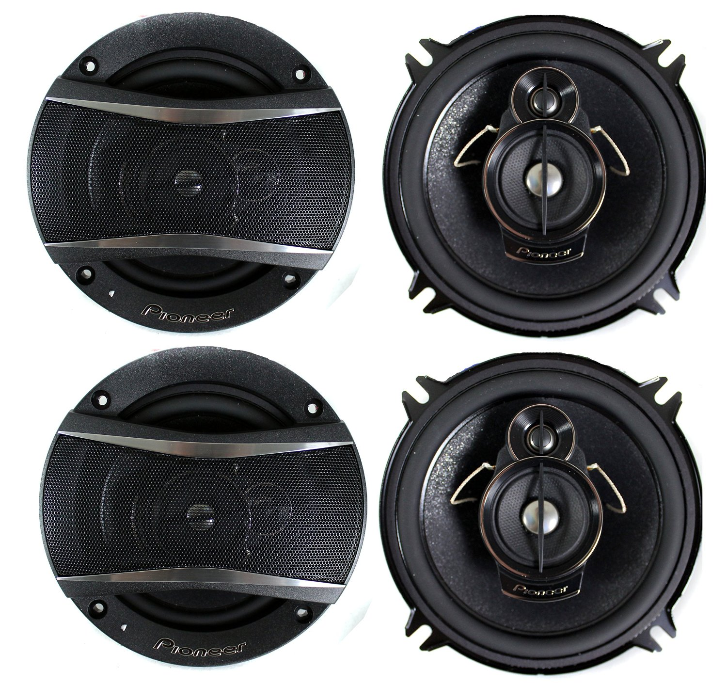 4) Pioneer 5.25 Inch 3-Way 600 Watt Car Stereo Coaxial Speakers Four | TS-A1376R