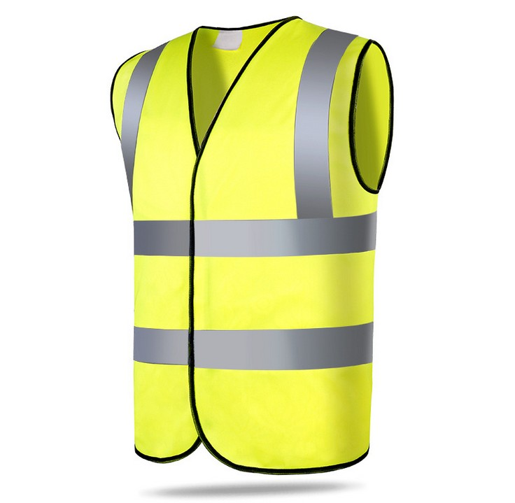 High Visibility Fluorescent Yellow Orange  Reflective Safety Vest