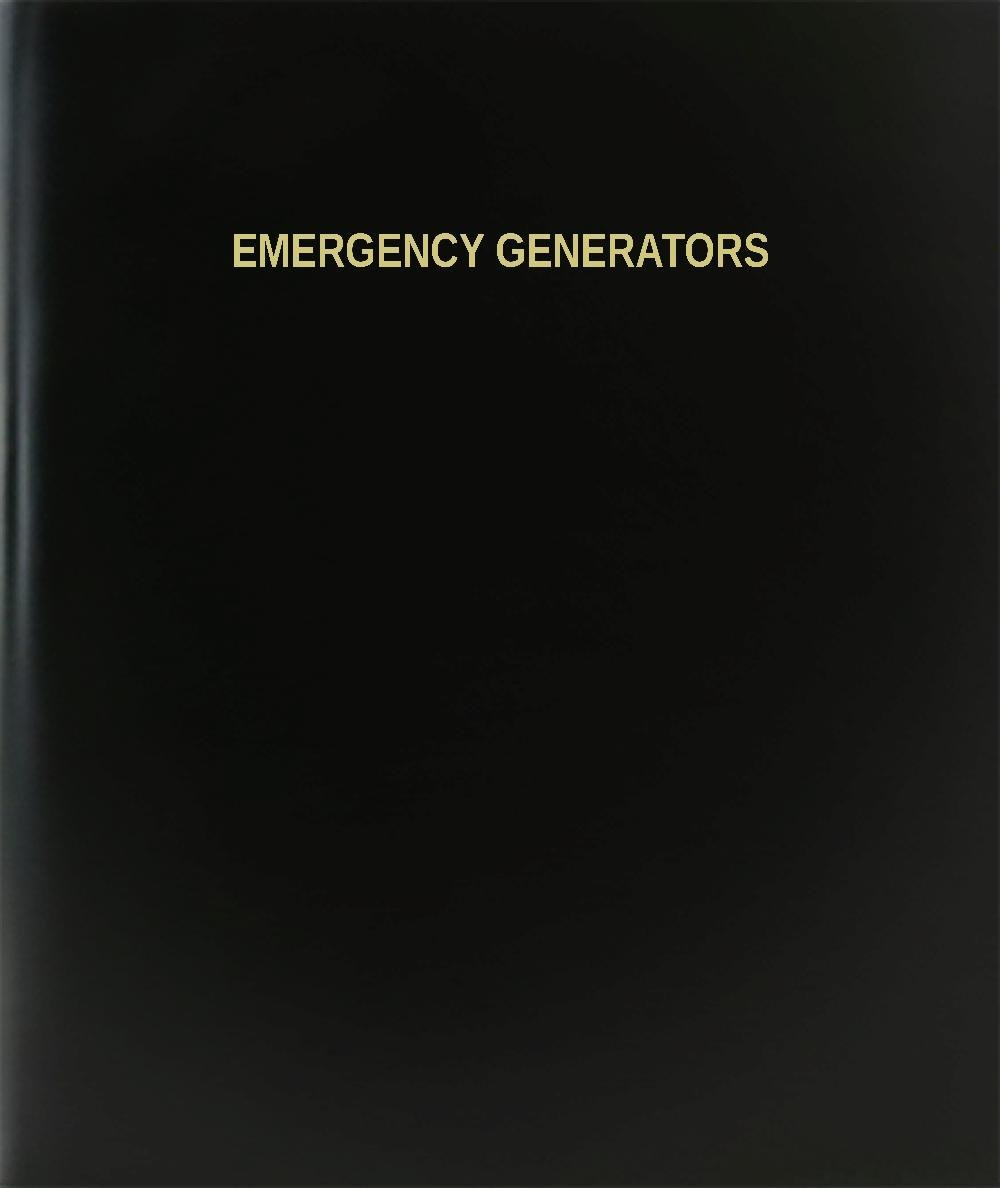 "BookFactory® Emergency Generators Log Book / Journal / Logbook - 120 Page, 8.5""x11"", Black Hardbound (XLog-120-7CS-A-L-Black(Emergency Generators Log Book))"