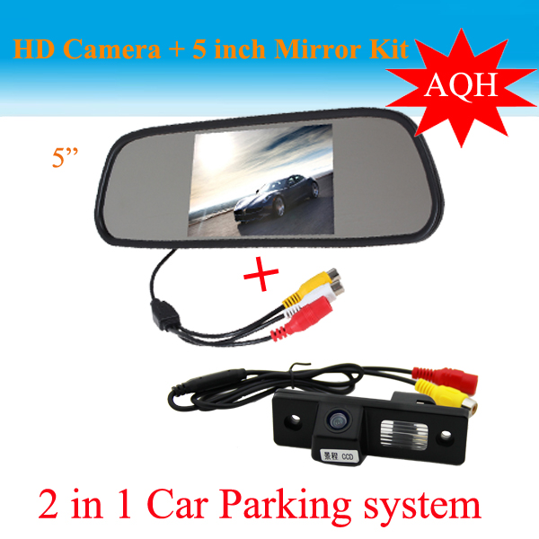 promotion 2 in 1 car parking system ccd hd car backup camera rear view camera 5 inch hd car. Black Bedroom Furniture Sets. Home Design Ideas