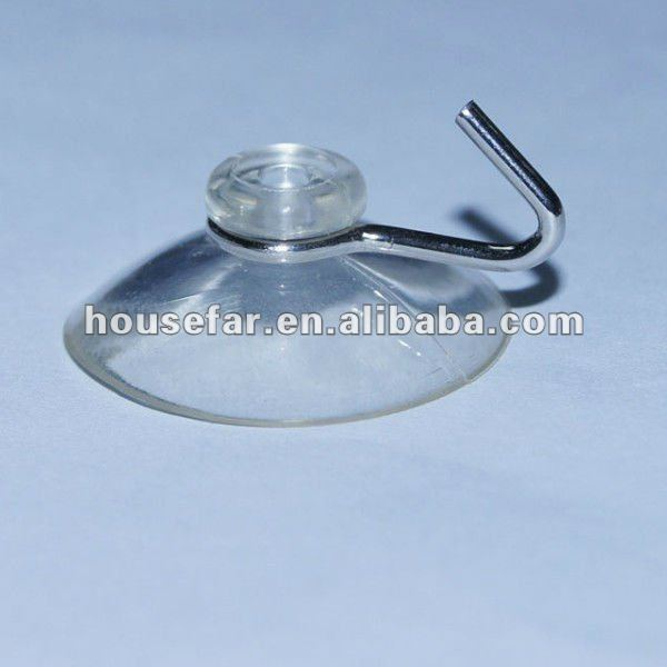 small suction cup with wire hook