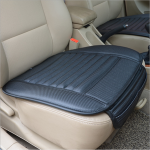 Universal 4 colors PU leather bamboo charcoal car front back seat cushions car seat covers