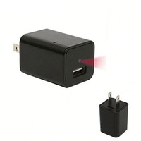 Black mini 1080P HD wireless wifi P2P spy ip hidden USB Charger camera