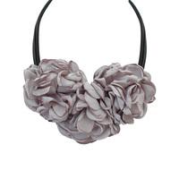Latest design fashion jewelry Bohemia fabric flower statement necklace
