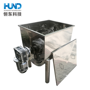 high quality durable stainless steel horizontal powder / chemical sand mixing tank