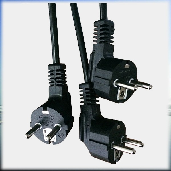 Germany power cord 2 pin cable EU type,two wire power cord with E27 lamp holder