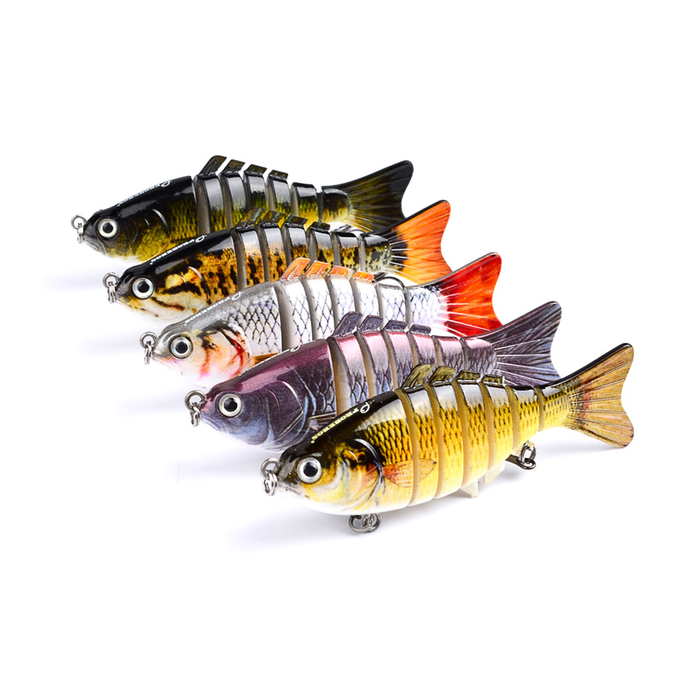 "10cm/4"" 15.5g Bionic Multi Jointed <strong>Fishing</strong> Lure Lifelike Hard Bait Bass Perch Walleye Pike Muskie Roach Trout Swimbait"