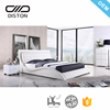 Shunde Lecong market Queen and King real leather upholstered platform bed