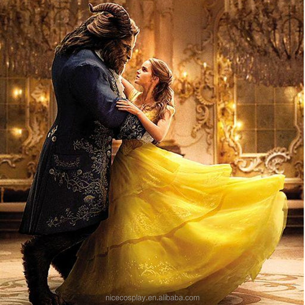 Hot Movie Live-action Beauty And The Beast Cosplay Belle Costumes Princess Dress Wholesale