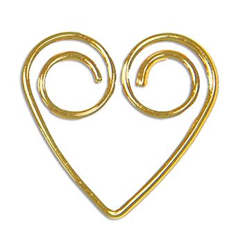 Herzformige Draht Gebildet Shiny Gold Dekorative Buroklammern Buy
