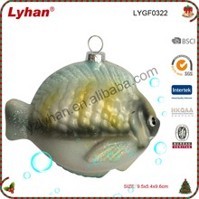 mini inflated glass fish for Christmas home decoration