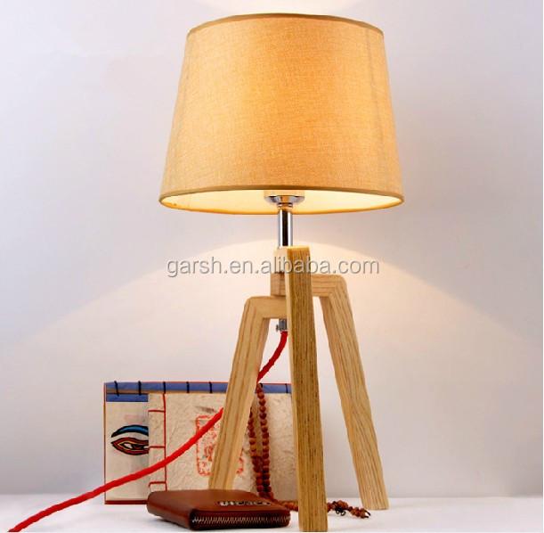 Modern Wooden Bedside Lamp
