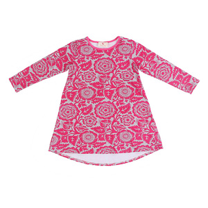 Wholesale chinese style children fancy dress red long sleeve kids girls dresses