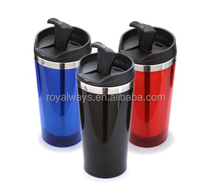 Customized design double wall insulated stainless steel coffee thermos mug travel mug or tumbler