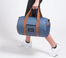 Cylindre femmes <span class=keywords><strong>denim</strong></span> sacs jeans <span class=keywords><strong>sac</strong></span> de sport de <span class=keywords><strong>voyage</strong></span>