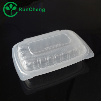 1 compartment clear plastic 9 disposable lunchbox/takeaway food container
