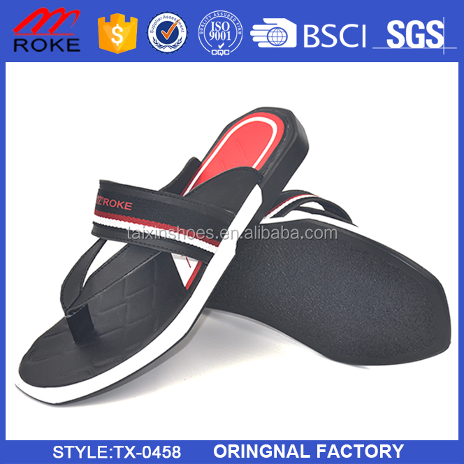 Casual Basic Light Man Slipper with Slimmer Strap From Jinjiang Taixin Shoes