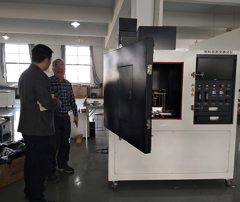China Fabricage ISO 5659 Rook Dichtheid Test Panel Kamer Voor Plastic
