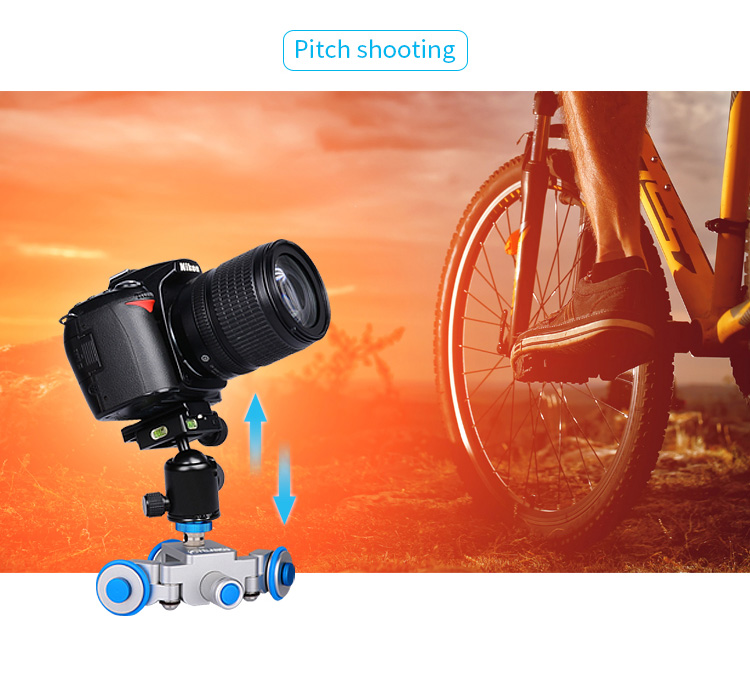 YELANGU Motorized Camera Slider Electric Dolly Autodolly L3 for Smartphone and dslr camera