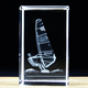 Wholesale Cheaper 3d laser crystal crafts with sailing boat for Sports Souvenir