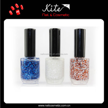 Cheap Wholesale Makeup Private Label Glitter Nail Polish /Varnish Supplier