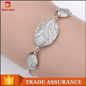 natural cz stone 925 silver bracelet india Jewelry wholesales in China