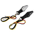 12V 1 Pair Motorcycle Turn Signal Light Amber And Blue Color 12 LED SMD Indicator Blinker