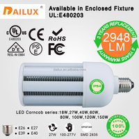 3 years replacement 27W milky lens 360 Degree LED Corn Lamp E27 E40