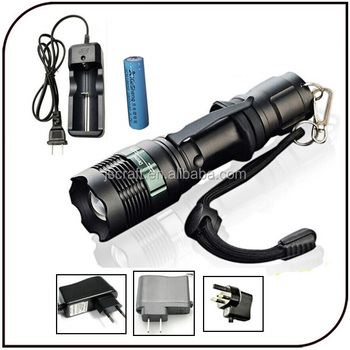 CE ROHS IP65 18650 battery 300lumen focus zoom electric torch best led flashlight