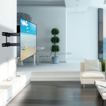 Double Arm Articulating Tv Bracket Wall Mount With Tilt For 26 55 Inch Lcd Led