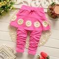 2016 baby Sun Flower pants Girls Panties skirt Korean children s clothing B015
