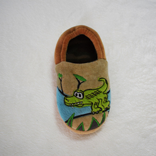 cute casual kids shoes with crocodile emb