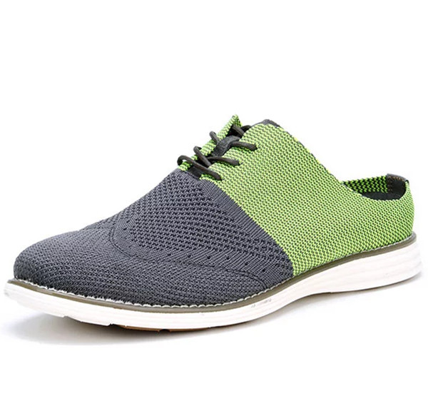 Hot sale lace up brogue flywoven shoes for men dress shoe