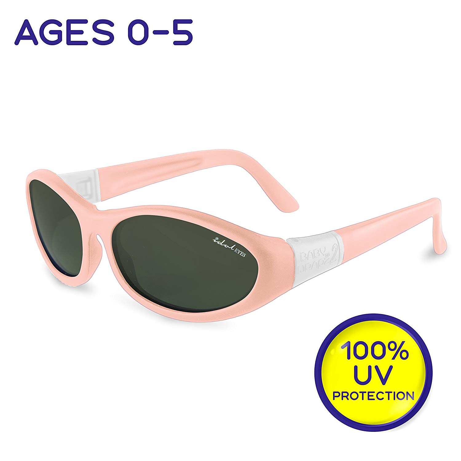 "d65c00a24d59 Get Quotations · Idol Eyes Kids Sunglasses for Kids - ""Baby Wrapz 2"" 100% UV  Protection"